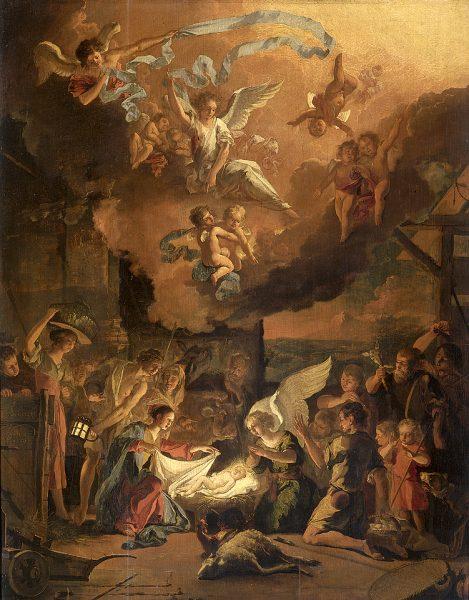 Adoration of Shepherds: Abraham Danielsz Hondius, 1663 metai