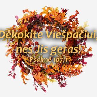 Dėkokite Viešpačiui