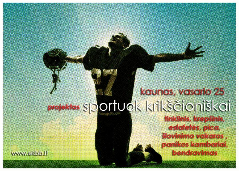Renginys sportuok krikščioniškai